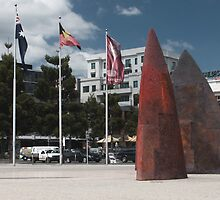 Ochre Sales on the Geelong Foreshore by Hicksy