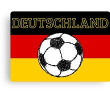 Deutschland flag   Football Canvas Print