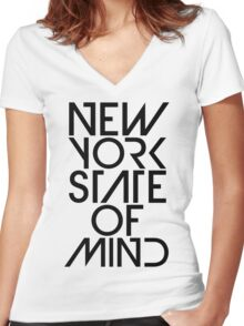 New York State of Mind Women's Fitted V-Neck T-Shirt
