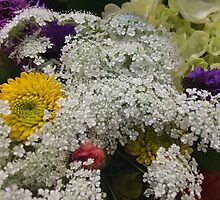 White Yellow Pink and Purple Flower Bouquet by silverdragon