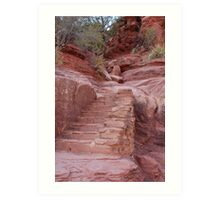 Red Rock Stairs Art Print