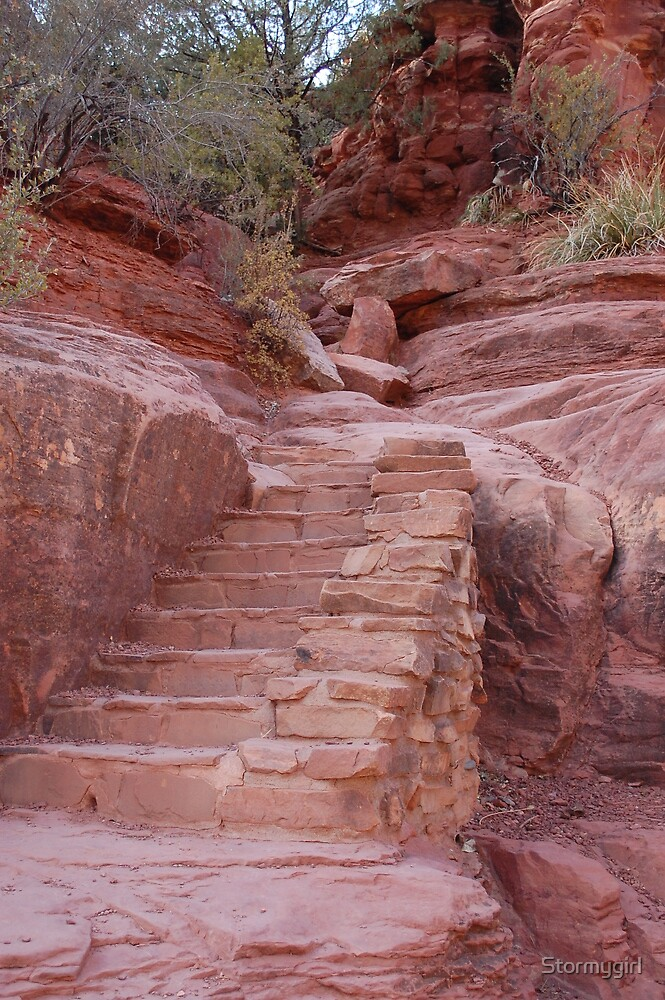 Red Rock Stairs by Stormygirl