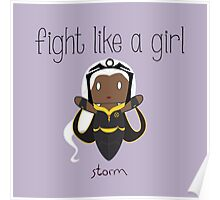 Fight Like a Girl - Storm Poster