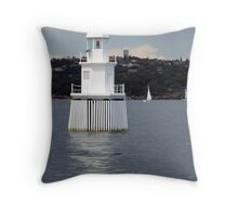 Sydney Harbour Shipping Lane Light Buoy Throw Pillow