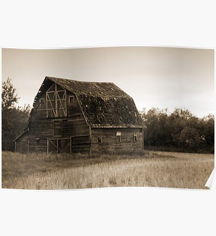 The Old Abandoned Barn Poster
