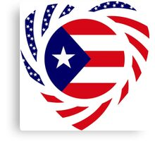 Puerto Rican American Multinational Patriot Flag Series 2.0 Canvas Print
