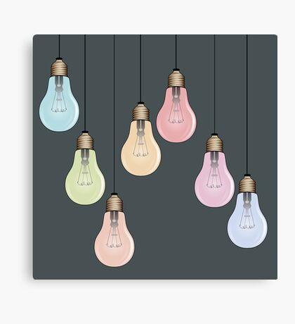 Hanging Lightbulbs Canvas Print