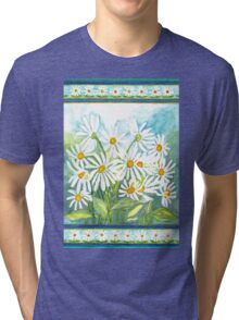 IN LOVE WITH DAISIES - CHEERFUL WHITE BEAUTIES Tri-blend T-Shirt