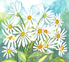 IN LOVE WITH DAISIES - CHEERFUL WHITE BEAUTIES by RubaiDesign