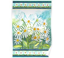 IN LOVE WITH DAISIES - CHEERFUL WHITE BEAUTIES Poster