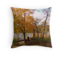 Changing Colors of The Leaves Throw Pillow