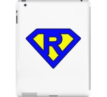 R letter iPad Case/Skin