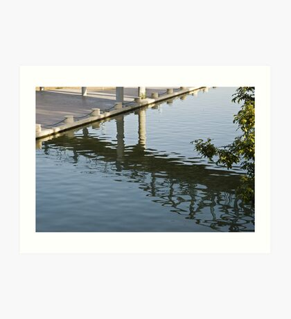 Shadows And Ripples On Water Art Print