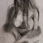 seated nude in charcoal wa  by heathermay