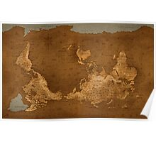 World Map - Upside Down Poster
