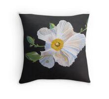 Native Hibiscus Throw Pillow
