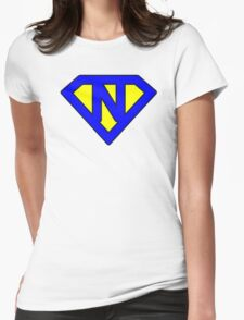 N letter Womens Fitted T-Shirt