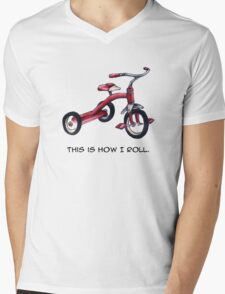 Red Tricycle Mens V-Neck T-Shirt