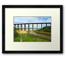Bridge over the river..... Framed Print