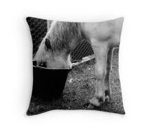 a little hoarse Throw Pillow