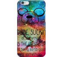 Adventure Time Galaxy Quotes iPhone Case/Skin
