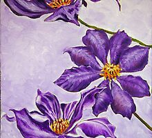 Purple Flowers by Chris King