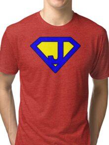 J letter Tri-blend T-Shirt