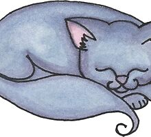 Russian Blue Kitty by Amy-Elyse Neer