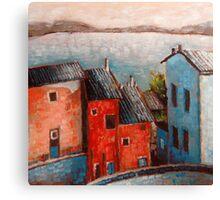 """Landscape VI - 6x6"""" oil painting Canvas Print"""