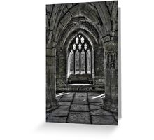 Chapter House - Valle Crucis Abbey, Llangollen Greeting Card