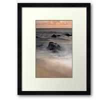 Swirls - Sunset at Ella Bay Framed Print