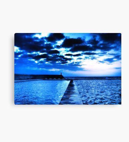 Divided - Newcastle Ocean Baths Canvas Print