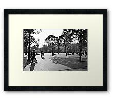 Plaza in Nice, France Framed Print