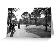 Plaza in Nice, France Greeting Card