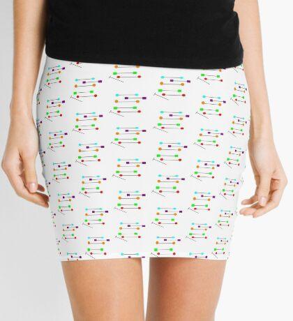 BARBEL color POST abstract Mini Skirt