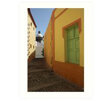 Arguimes alley Gran Canaria Art Print