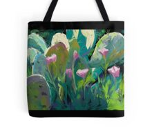 Cactus and California Poppies Tote Bag
