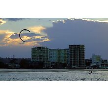Kite surfing the storms wind Photographic Print