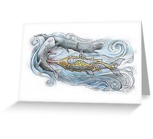Nautilus v Sperm Whale Greeting Card