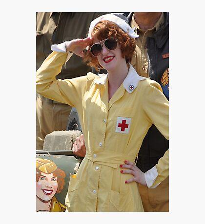 WWII Nurse  Photographic Print