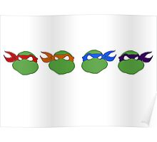 TMNT graphic heads Poster