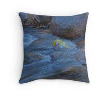 Yellow Through the Blue (Water Flows Series) Throw Pillow