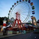 Luna Park Wheel, Twilight in Spring, Sydney 2009 by Gayan Benedict