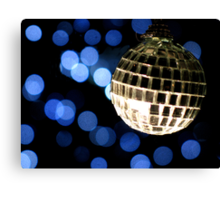 Christmas Disco Christmas Card Canvas Print