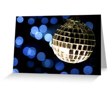 Christmas Disco Christmas Card Greeting Card