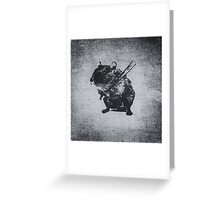 Angry street art mouse / hamster (baseball edit) Greeting Card