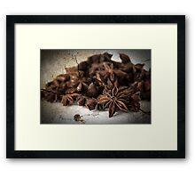 Textured Spice Framed Print