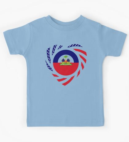 Haitian American Multinational Patriot Flag Series 2.0 Kids Tee
