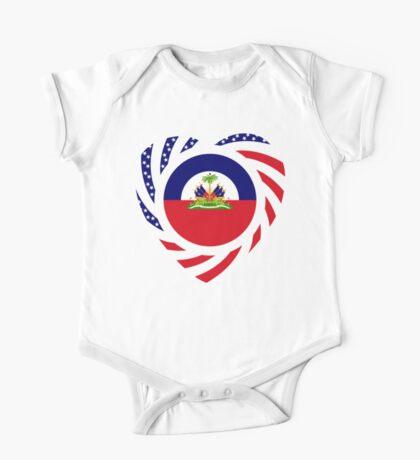 Haitian American Multinational Patriot Flag Series 2.0 One Piece - Short Sleeve