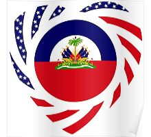 Haitian American Multinational Patriot Flag Series 2.0 Poster